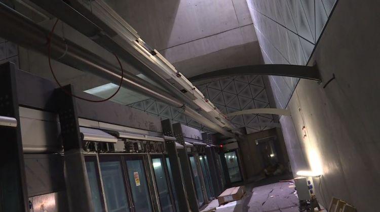 Station Colombier - Novembre 2019 - Branchement des luminaires