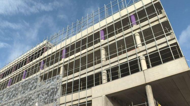 Parc relais Les Gayeulles - Février 2020 - Installation parois métalliques